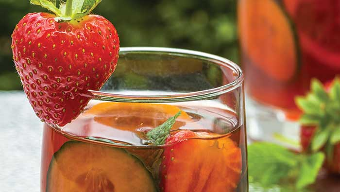 Free Strawberries with a jug of Pimm's